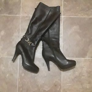 Dulala leather platform boots